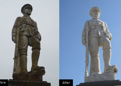 Drefach, war, memorial, red brick, poppies, deep cleaning, conservation