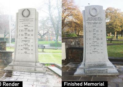War Memorial, installation, granite,