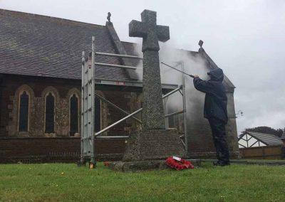Depp cleaning, stone, war memorial, restoration, conservation