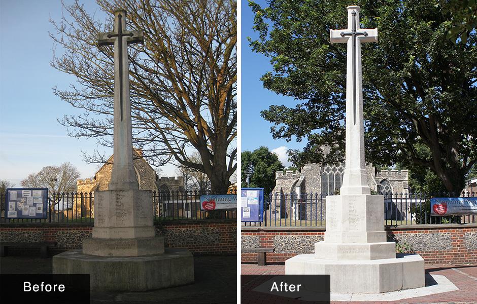 Northfleet CWGC Cross Memorial