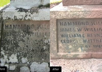 Upper Hill Memorial, Herefordshire, cleaning, restore, conservation