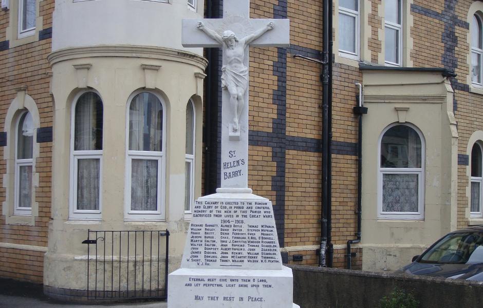 St Helens Church War Memorial – Barry