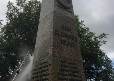 War Memorial, brass, cleaning, restoration, conservation